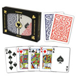 11878 - Copag Poker Size Regular Index Double Deck Red And Blue