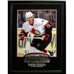 7404 - Jason Spezza Signed Photo with Etched Mat Senators