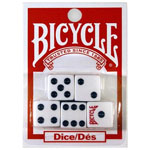 1844 - Bicycle 6 Sided Spot Carded 16 mm Dice (5 pack)