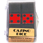 1852 - Red Casino Pair 19 mm Dice (Red)
