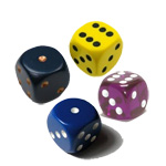1867 - Opaque 16mm Dice