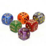 1887 - Assorted 12 mm Dice