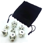 13563 - Metal Polyhedral Dice Set - Metal Pearl