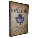 9991 - Toronto Maple Leafs Classic Wall Ticket