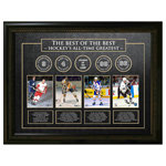 9900 - Best of the Best Framed - Gordie Howe, Bobby Orr, Wayne Gretzky, Mario Lemieux