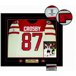 9911 - Crosby,S Signed Jersey Team Canada Framed Game Model White 2010 Olympic