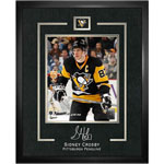 12009 - Sidney Crosby Digital Signature Replica Framed Print