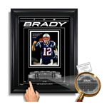 Tom Brady New England Patriots Gillette Stadium - Archival Etched Glass