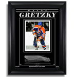 13448 - Wayne Gretzky Edmonton Oilers Engraved Framed 8X10 Photo Action