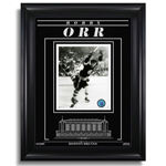 13449 - Bobby Orr Boston Bruins Engraved Framed Photo - The Goal