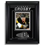 13452 - Sidney Crosby Pittsburgh Penguins Engraved Framed Photo - Closeup