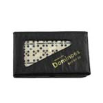 2108 - Double 6 Small Ivory Dominoes in Vinyl Case