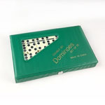 5736 - Double 6 Black Dot Dominoes in a Vinyl Case
