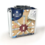 3998 - Mexican Train Dominoes in Aluminum Case