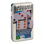 2168 - Double 6 Colour Dot Dominoes in a Tin