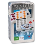 2170 - Double 12 Colour Dot Dominoes in a Tin