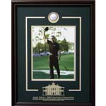 7411 - Mike Weir Hand Signed Photo Framed with Etched Mat and Ball