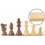 2263 - 4'' Wooden Chess Men in a Wood Box