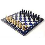 10872 - Ambassador Chess Set - Blue 21 inch x 21 Inch