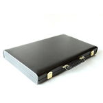 13023 - Backgammon Set - 15'' Black Leatherette