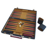 11803 - Angola Backgammon Set Dark Green - 15 inch