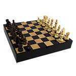 Classic Collection Black and Maple Chess Set