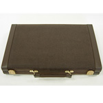 13024 - Backgammon set - 18'' - Streaked Black Vinyl Case