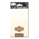 12400 - Congress Bridge Tallies - White
