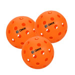 12077 - Onix PURE 2 OUTDOOR Pickle Balls - 3 Pack - ORANGE