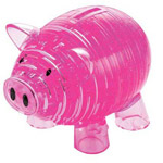 Clearly Puzzled 3D Piggy BankPuzzler