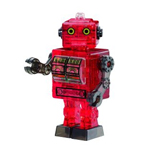 Crystal Puzzle Tin Robot Red
