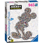 13927 - Ravensburger Disney Mickey Mouse Shaped 945 Piece Jigsaw Puzzle