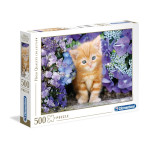 Clementoni Ginger Cat in Flowers - 500 Pc Puzzle