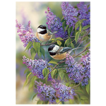 CH Chickadees and Lilacs - 1000 Piece Puzzle