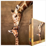 Eurographics Animal Life: Giraffe Mother's Kiss - 1000 piece puzzle (6000-0301)