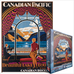 6790 - Eurographics Vintage Canadian Art: Beautiful Lake Louise, by Shoesmith - 1000 piece puzzle