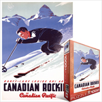 6792 - Eurographics Vintage Canadian Art: Lake Louise Ski Areas, by Peter Ewart - 1000 piece puzzle