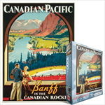 6795 - Eurographics Vintage Canadian Art: Banff In The Canadian Rockies, by James Crockart - 1000 piece puzzle