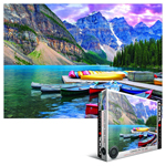 10305 - Eurographics HDR Collection: Canoes on The Lake - 1000 Piece Puzzle