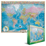 10314 - EuroGraphics Maps: Map of the World - 1000 Piece Puzzle