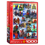 10423 - Eurographics Vintage Canadian Art: RCMP Collage - 1000 Piece Puzzle