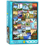 Eurographics Vintage Art Collection: Lighthouses Vintage Ads - 1000 Piece Puzzle