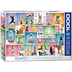 Eurographics Yoga Dogs 1000pc Jigsaw Puzzle