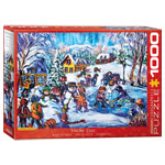 Eurographics Artists Series: Snow Day, by Mertikas - 1000 pc puzzle