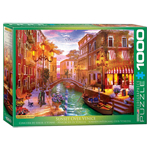 Eurographics Artists Series: Sunset Over Venice, by Davison - 1000 Piece Puzzle