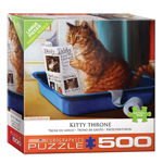 16026 - Eurographics Kitty Throne Large 500 Pc Puzzle (8500-5452)