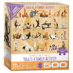 16013 - Eurographics Yoga is A Family Activity 500 Large Pc Puzzle (8500-5354)