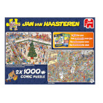 15185 - Jan van Haasteren Holiday Shopping - 2 x 1000pc puzzles (19098)