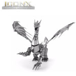12394 - Iconx 3D Metal Model Kits - Silver Dragon