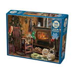 Cobble Hill Kittens By The Stove 500pc Puzzle